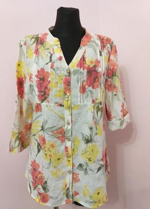 Вишукана блуза(льон)/cassis/l,xl