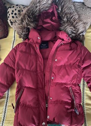 Куртка bershka с натуральным мехом