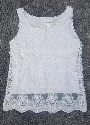 Красивая ажурная блуза 8-9лет