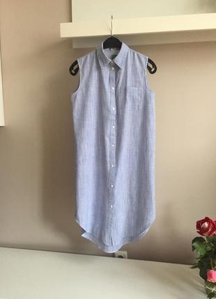 Длинная рубашка без рукавов