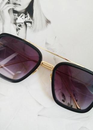 Солнцезащитные очки тони старка фиолетовый в золоте