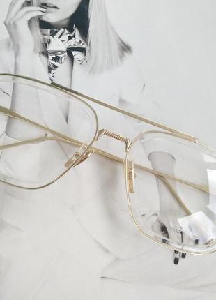 Очки тони старка имиджевые прозрачные