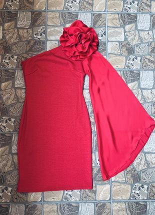 Goddess красное коктейльное вечернее платье