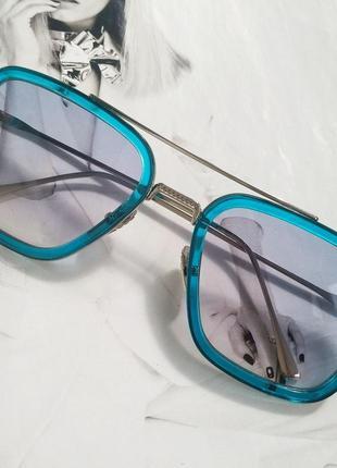 Солнцезащитные очки тони старка синий