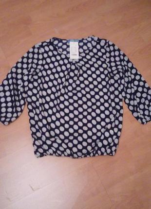 Весенняя блуза в горошек