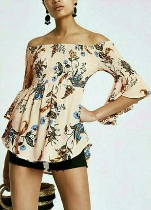 Крутая блуза с открытыми плечами river island
