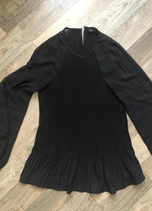 Чёрная блуза, кофточка, кофта, с прозрачными рукавами, стильная, zara