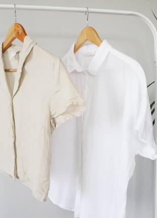 Тенниска , рубашка с коротким рукавом {лён}
