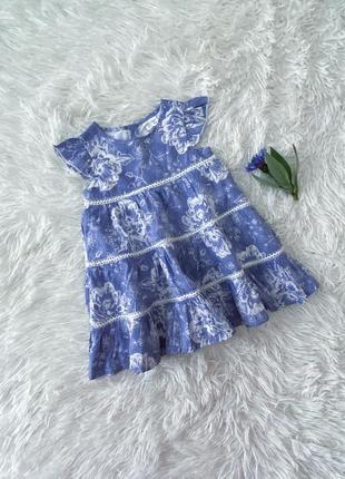 Летнее платье для малышки 56-62 см