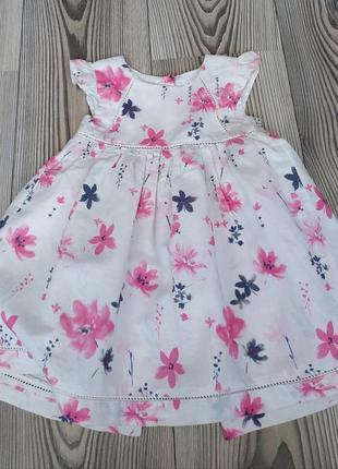 Летнее платье c&a на малышку 86 см