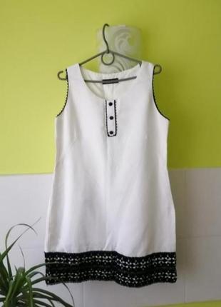 Белое платье с черными вставками из кружева от dorothy perkins