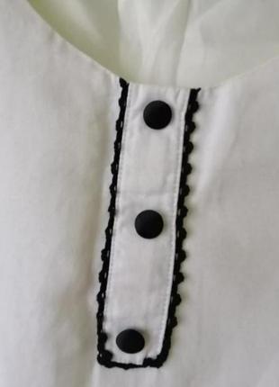 Белое платье с черными вставками из кружева от dorothy perkins2 фото