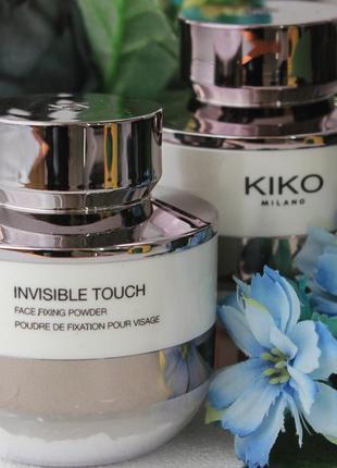 Фиксирующая и матирующая пудра для лица  kiko milano