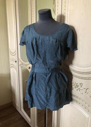 Милая блузка блуза топ туника, шелковая, натуральный шёлк шелк, banana republic