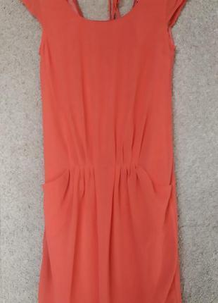 Нарядное отрезное платье -шифт на легкой подкладке