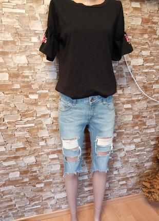 Америка,новые!шикарные,крутые,модные,рваные,джинсовые шорты,бриджи,шортики