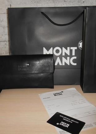 Клатч-сумка мужская барсетка mont blanc, кожа, италия 9087