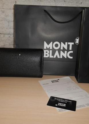 Клатч-сумка мужская барсетка mont blanc, кожа, италия 588