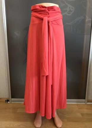 Оригинальное коралловое платье юбка трансформер avon