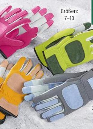 Новые замшевые перчатки садовые, рабочие рукавицы, усиленные кожей herbst германия