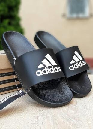 Мужские тапочки шлепки adidas черные