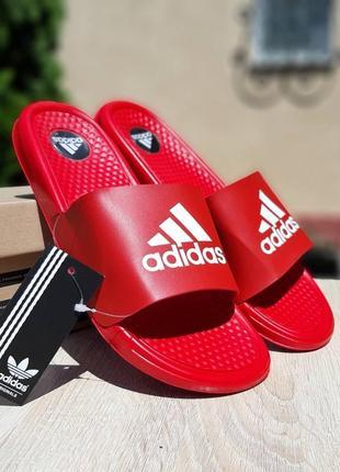 Тапочки мужские adidas красные массажные