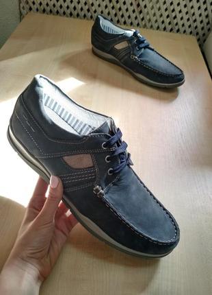 Темно-сині мокасини frank walker