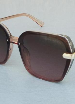 Очки женские солнцезащитные в стиле louis vuitton коричнево бордовые
