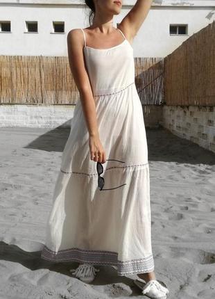 Длинное летнее платье сарафан