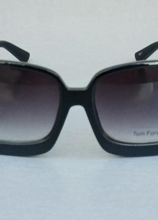 Tom ford очки женские солнцезащитные большие черные с градиентом4 фото
