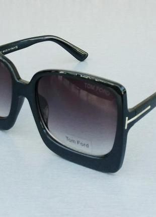Tom ford очки женские солнцезащитные большие черные с градиентом5 фото