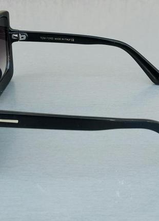 Tom ford очки женские солнцезащитные большие черные с градиентом6 фото