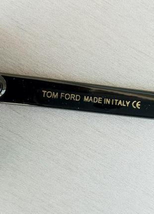 Tom ford очки женские солнцезащитные большие черные с градиентом8 фото