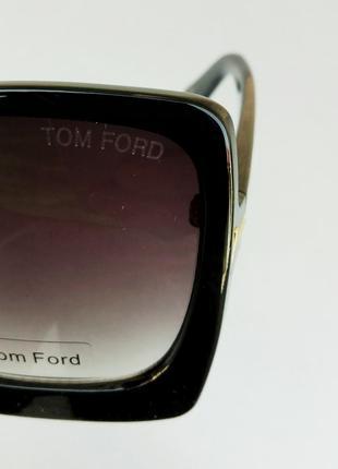 Tom ford очки женские солнцезащитные большие черные с градиентом10 фото