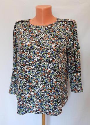 Блуза в цветочный принт от warehouse (размер 10-12)