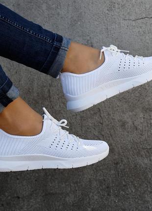 Распродажа! кроссовки женские белые с неотрывной подошвой. размеры 37, 38, 40