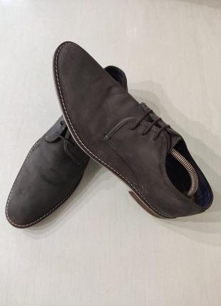 Мужские кожаные туфли на шнурках, стелька 30,5 см