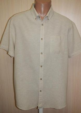 Льняная рубашка тенниска acw85 p.l