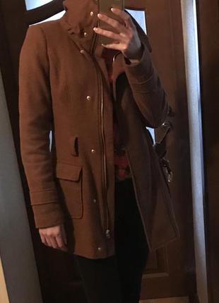 Пальто esprit 70%шерсти, р.s