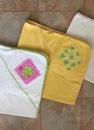 Детские полотенца с уголком / капюшоном (можно как конверт на выписку)