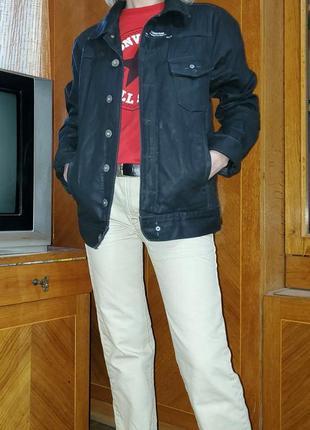 Джинсовка джинсовый пиджак под кожу g-star raw