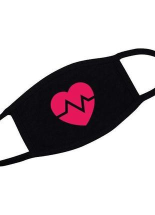 Многоразовая защитная маска - сердечко