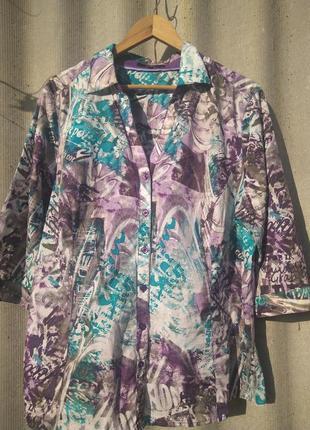 Стильная хлопковая  рубашка bonita