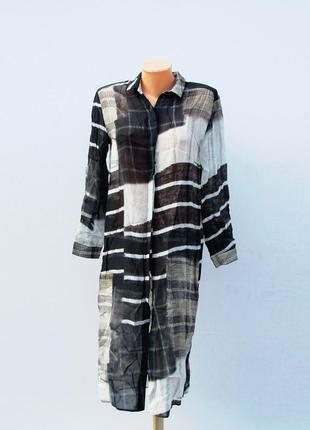 H&m рубашка-туника длинная