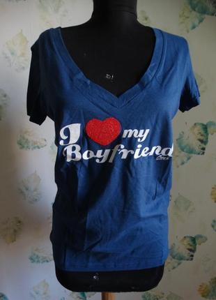 Легкая хлопковая футболка с оригинальной  надписью onyx