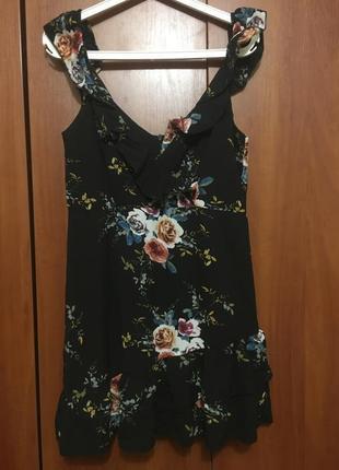 Романтическое няшное платье с оборочками boohoo