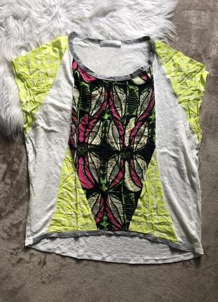 Женская легкая летняя льняная футболка майка zara