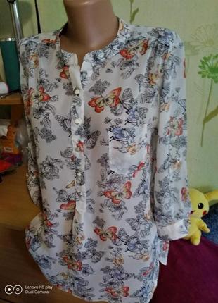 Нежная , воздушная шифоновая блузка -s-m-lwallis