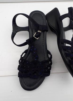 Комфортные босоножки сандалии замшевые/graceland германия/37p