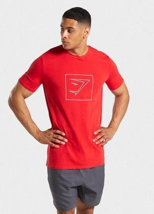 Мужская футболка gymshark outline оригинал